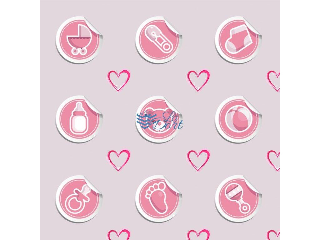 Sugar Stamps - A4 - BabyShower Holka - až 83 ks na archu - 00205