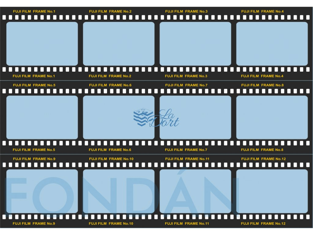 Fondánový list - filmový pás 12 snímků 7,4x7cm