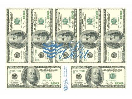 Americké platné bankovky 100,-$ - líc - A4 - 00222