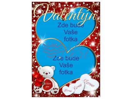 Valentýn dvě srdce - A4 - 00229