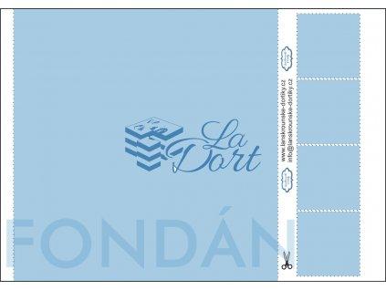 Fondánový list - čtverec 1 ks 21x21 cm + 4 ks 5x5 cm