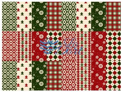 Sugar Stamps - A4 - Vánoce - nejméně 48 ks na archu - 00033