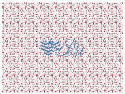 Sugar Stamps - A4 - Vánoce - nejméně 48 ks na archu - 00035