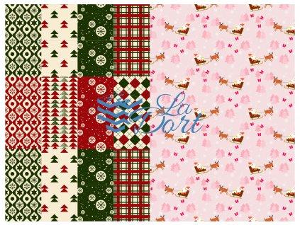Sugar Stamps - A4 - Vánoce - nejméně 48 ks na archu - 00036