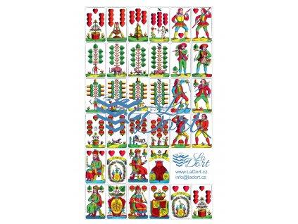 Hrací karty - Líc - 34 ks - A4 - 00045