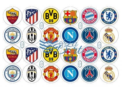 Fotbalové kluby loga - A4 - 00053