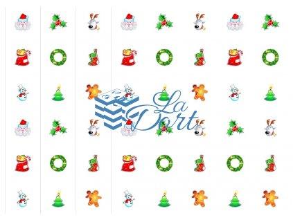 Sugar Stamps - A4 - Vánoce - nejméně 48 ks na archu - 00055