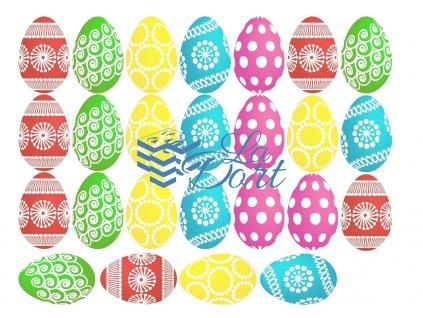 Velikonoce 25ks vajíček - A4 - 00059