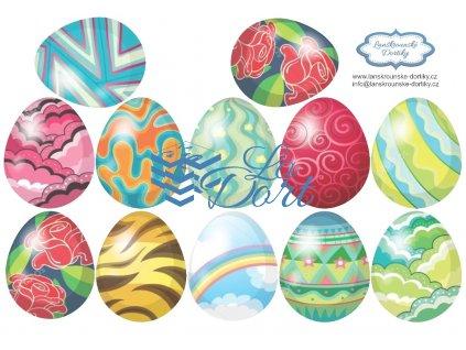 Velikonoce 12ks vajíček - A4 - 00061