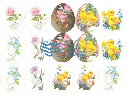 Velikonoce 15ks vajíček - A4 - 00064