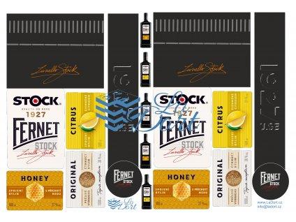 Fernet Stock-2 x 3 druhy Citrus, Honey a Original - A4 - 00134