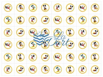 Sugar Stamps - A4 - Mickey Mouse - 48 ks na archu - 00148