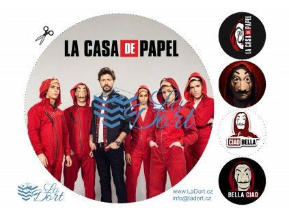 Papírový dům - La casa de papel - Money Heist - A4 - 00150
