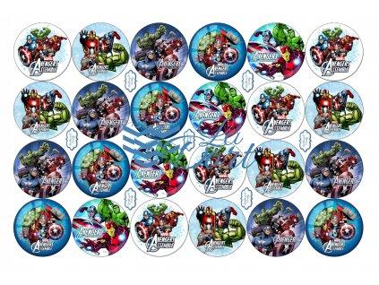 Avengers - Marvel - A4 24ks ⌀4,7 cm - 00166
