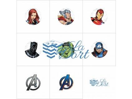 Sugar Stamps - A4 - Marvel Avengers - nejméně 48 ks na archu - 00167