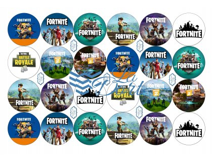 Fortnite - A4 24ks ⌀4,7 cm - 00173