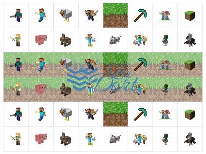 Sugar Stamps - A4 - Minecraft - nejméně 48 ks na archu - 00188