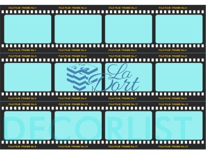 Decor list - filmový pás 12 snímků 7,4x7 cm