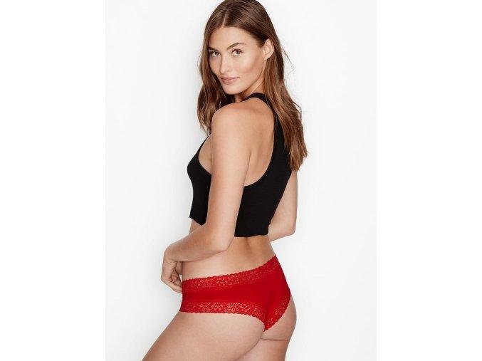 Dámské kalhotky/brazilky Victoria Secret - bavlna/červené