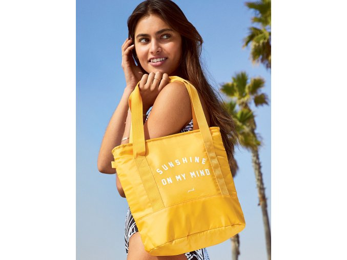 žltá taška pink