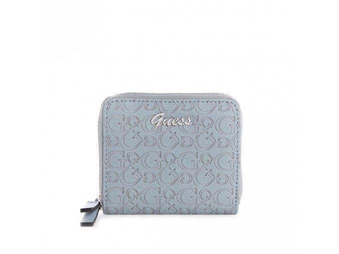 Dámská menší LOGO peněženka Guess - modrá