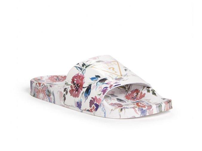 Dámské Guess pantofle s květinovým vzorem