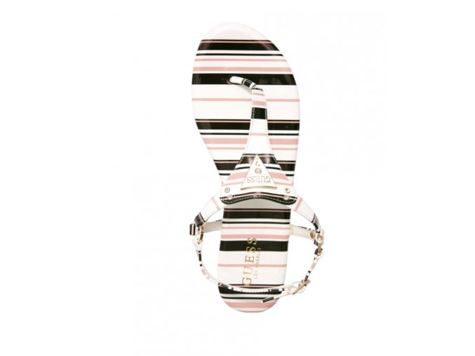 Dámské Guess sandálky s nápisem - barevné