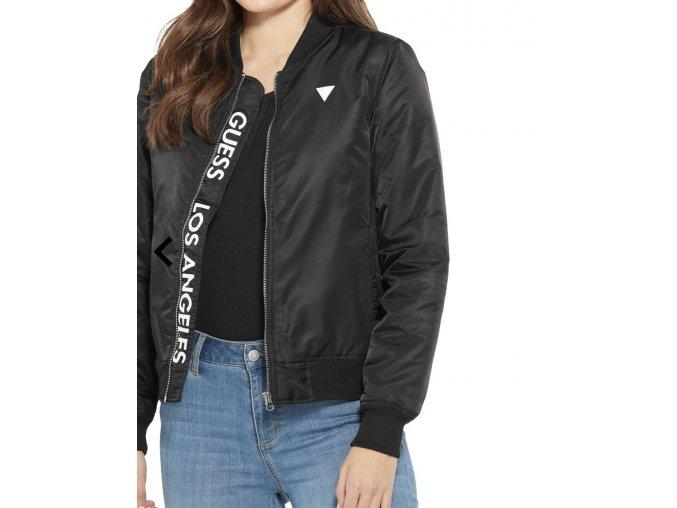 Dámská podzimní bunda s logem Guess - černá