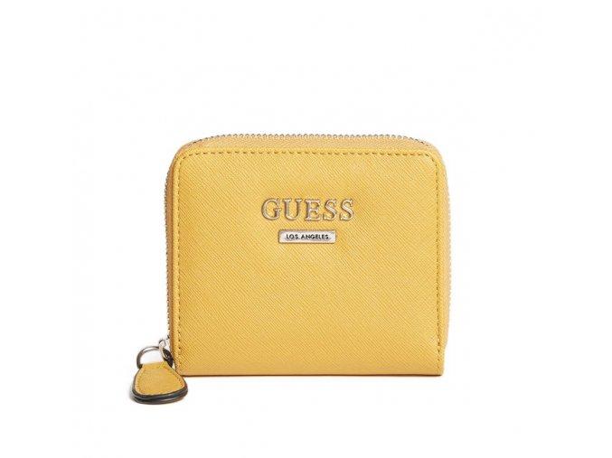 Dámská menší LOGO peněženka Guess - žlutá