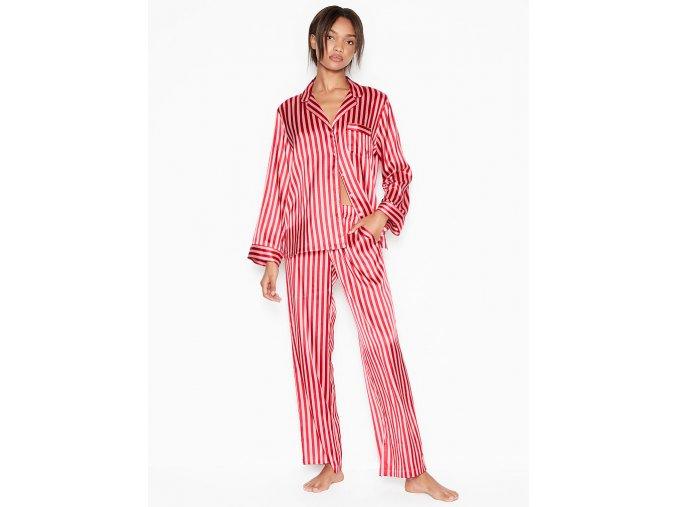 pyžamo červené pruhy