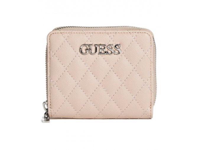 Dámská menší LOGO peněženka Guess - růžová