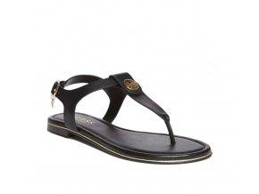Dámské Guess sandálky s nápisem - černé