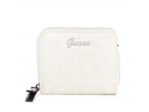 Dámská menší LOGO peněženka Guess - bílá