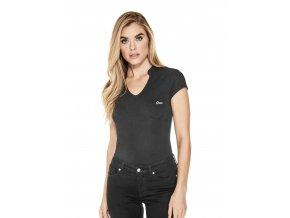 Dámské tričko Guess s V výstřihem - černé