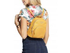 Dámský menší batoh Guess - žlutý