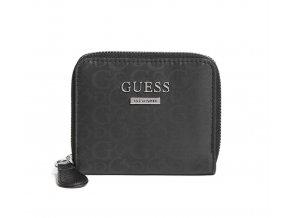 Dámská menší látková LOGO peněženka Guess - černá