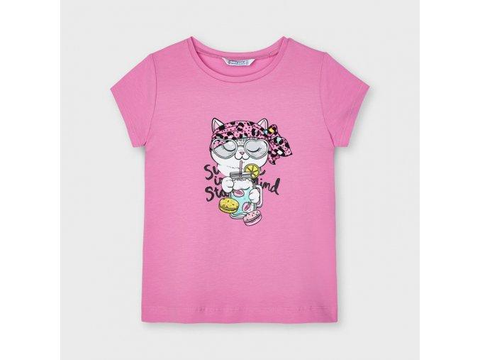 Dívčí triko s krátkým rukávem Mayoral 3020