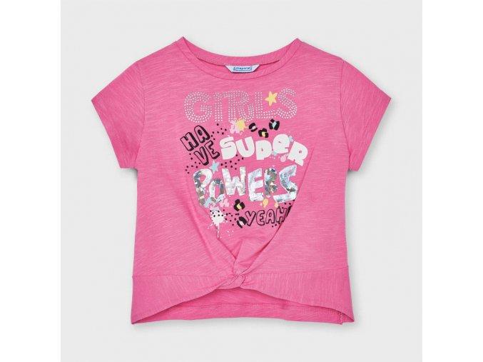 Dívčí triko s krátkým rukávem Mayoral 3077