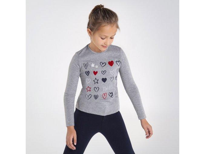 Dívčí triko s dlouhým rukávem Mayoral 7073
