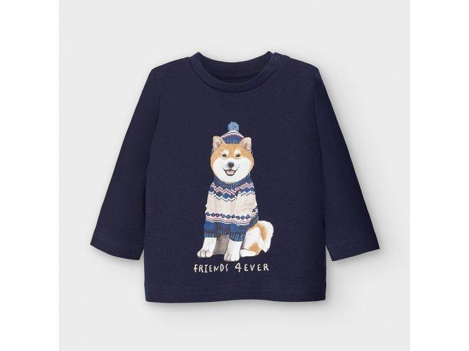 Chlapecké triko s dlouhým rukávem potisk pes Mayoral 2050