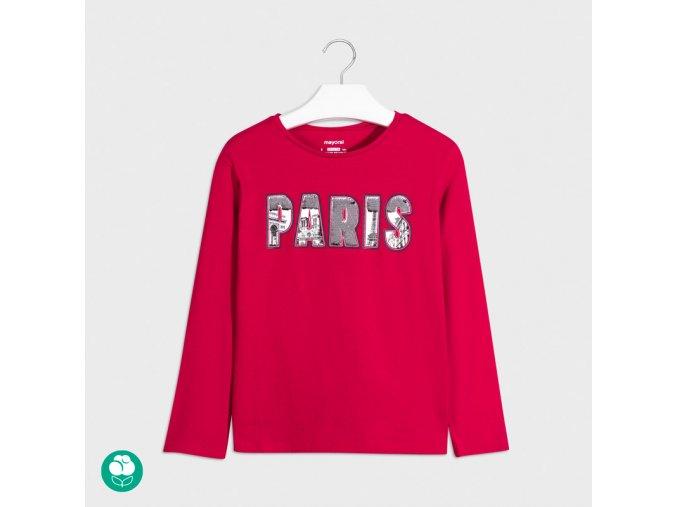 Dívčí triko s dlouhým rukávem Paris Mayoral 7077