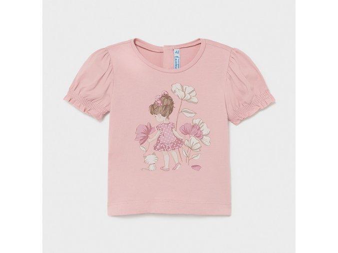 Dívčí triko s krátkým rukávem Mayoral 1077