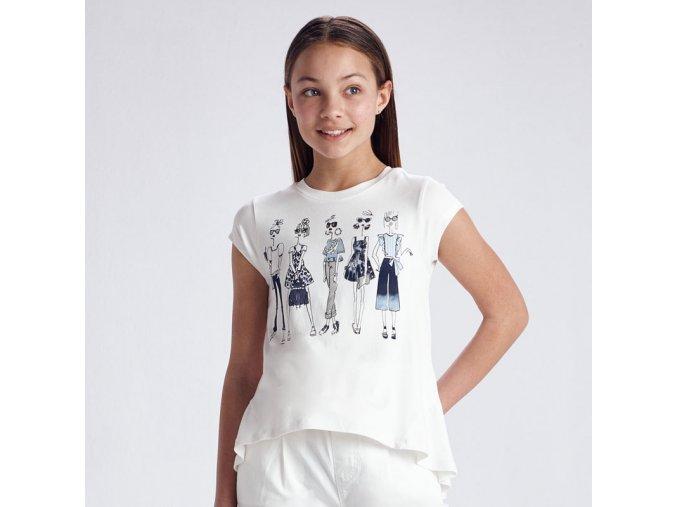 Dívčí triko s krátkým rukávem Mayoral 6005