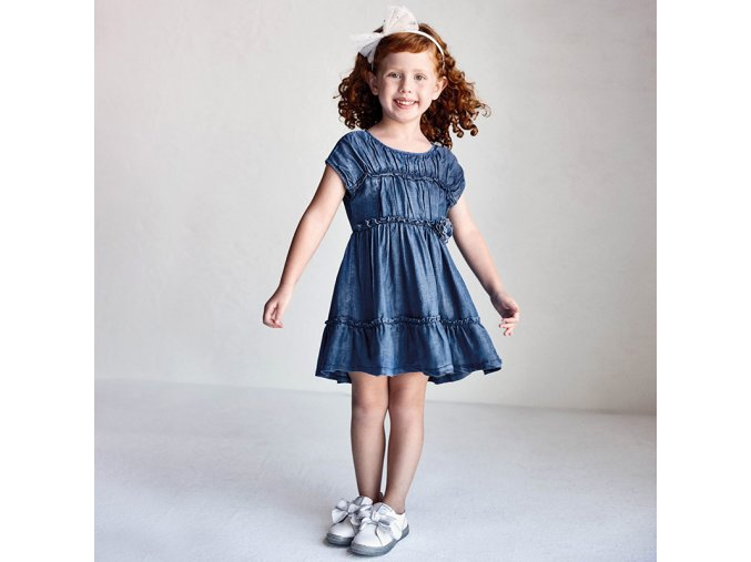 Dívčí letní riflové šaty Mayoral 3936
