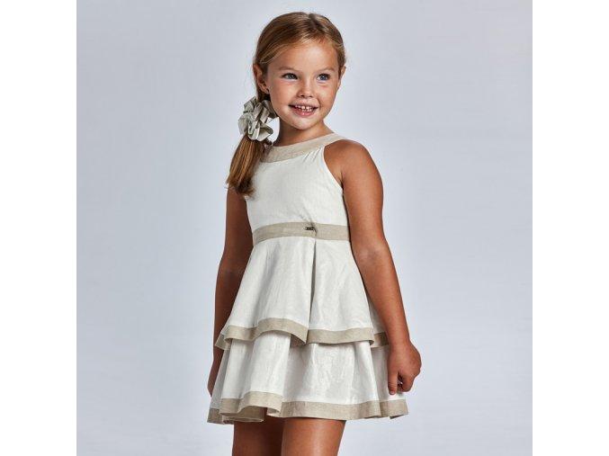 Dívčí letní lněné šaty Mayoral 3925