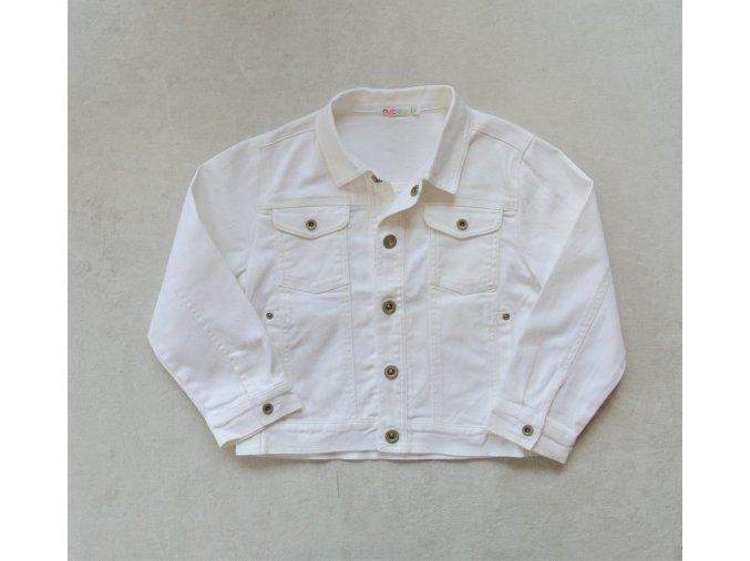 Dívčí riflová bunda bílá Nucleo