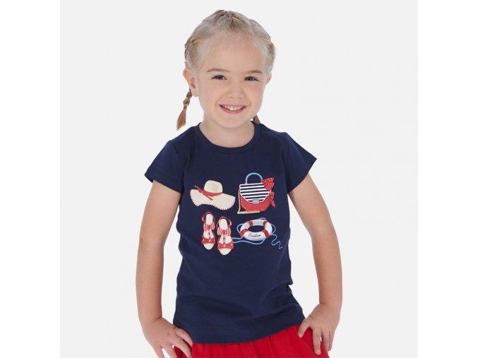 Dívčí triko s krátkým rukávem Mayoral 3017