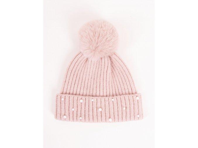 Dívčí zimní čepice perličky Marianna YO! CLUB