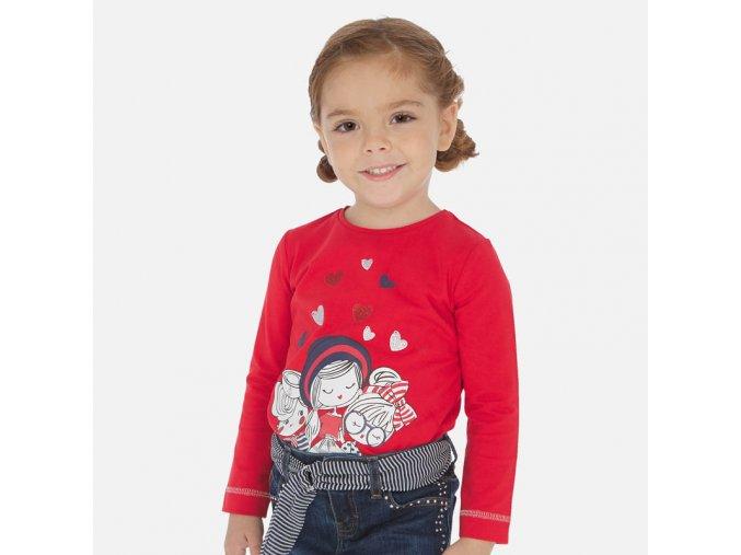 Dívčí triko s dlouhým rukávem Mayoral 3019