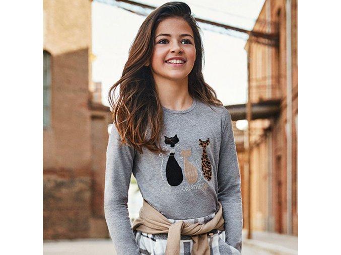Dívčí teplejší triko s dlouhým rukávem Mayoral 7071